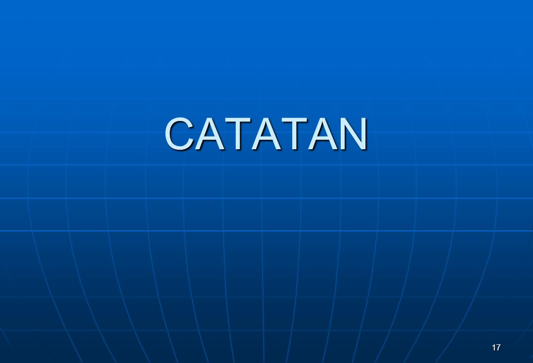 CATATAN