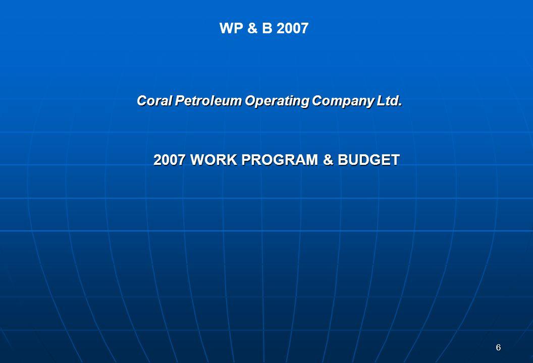 Coral Petroleum Operating Company Ltd.