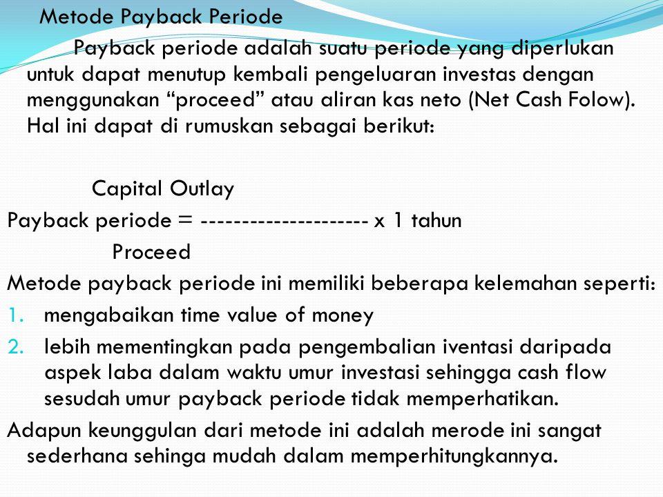 Metode Payback Periode