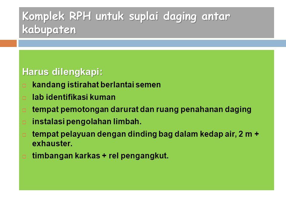 Komplek RPH untuk suplai daging antar kabupaten