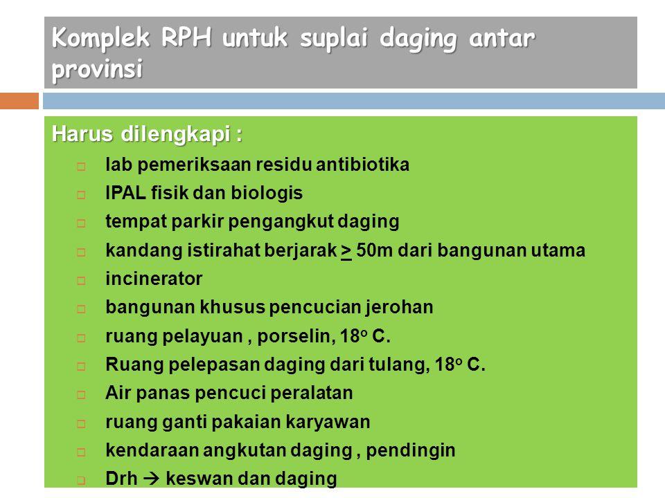 Komplek RPH untuk suplai daging antar provinsi