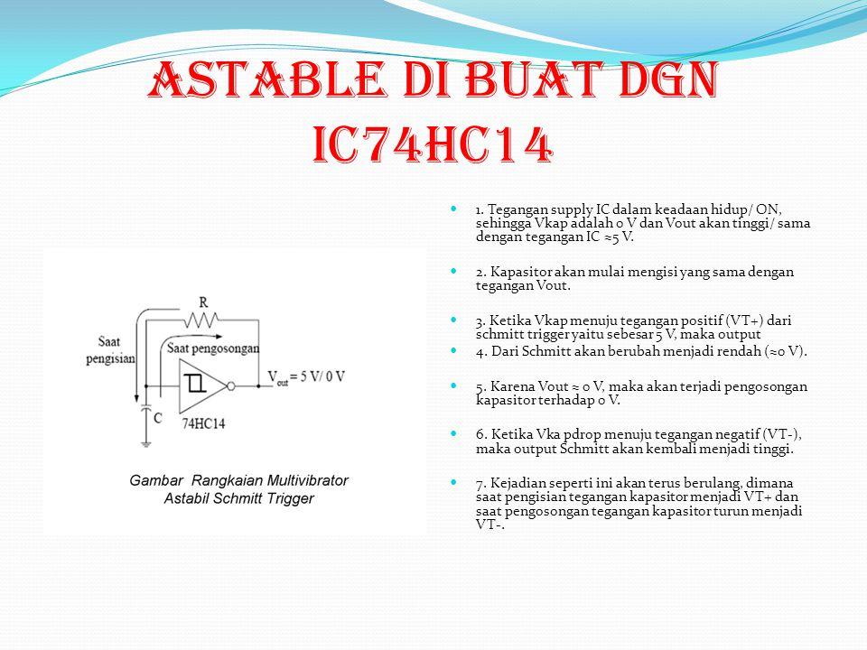 ASTABLE di buat dgn ic74HC14