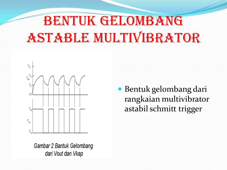 Bentuk gelombang ASTABLE MULTIVIBRATOR