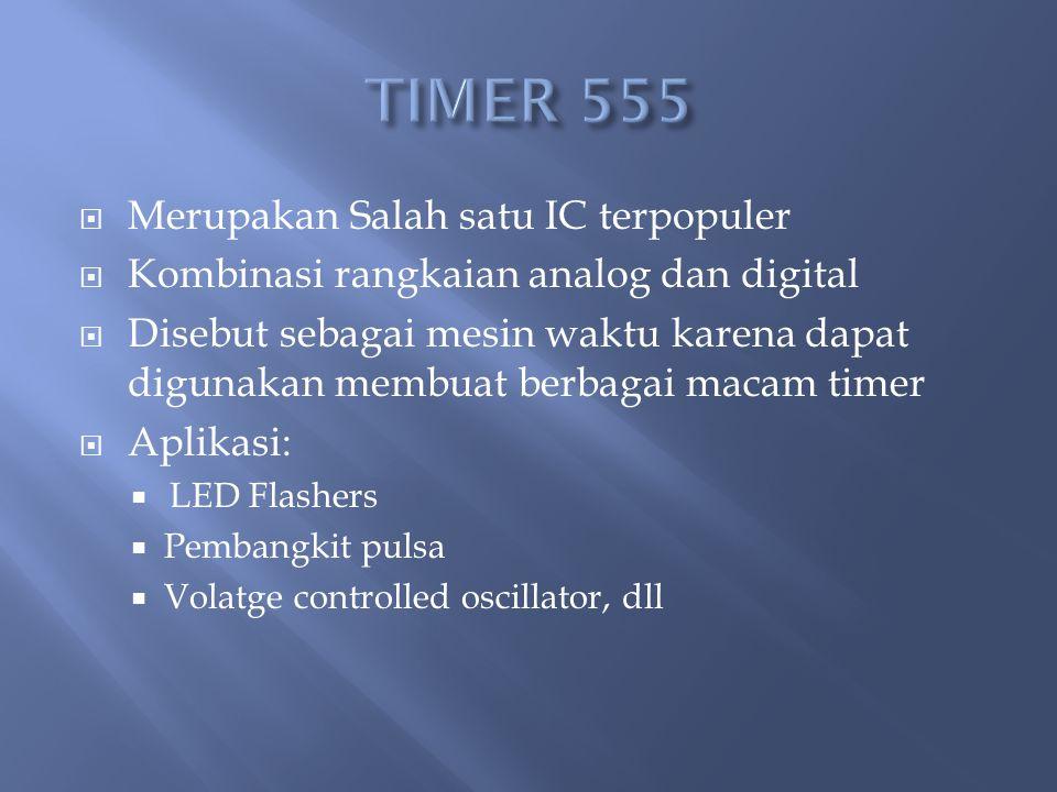 TIMER 555 Merupakan Salah satu IC terpopuler