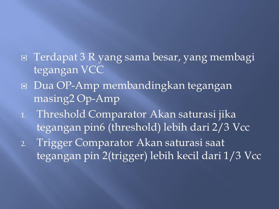 Terdapat 3 R yang sama besar, yang membagi tegangan VCC