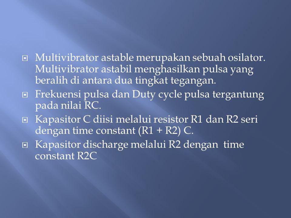 Multivibrator astable merupakan sebuah osilator