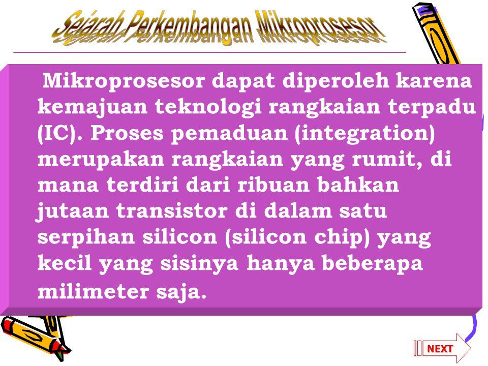 Sejarah Perkembangan Mikroprosesor