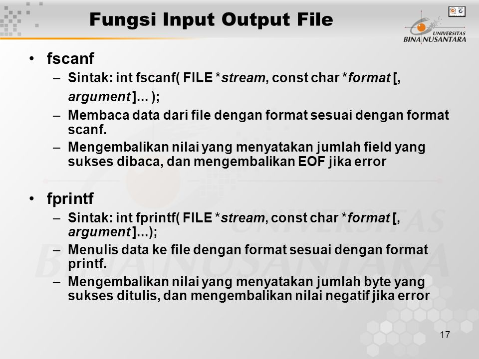 Fungsi Input Output File