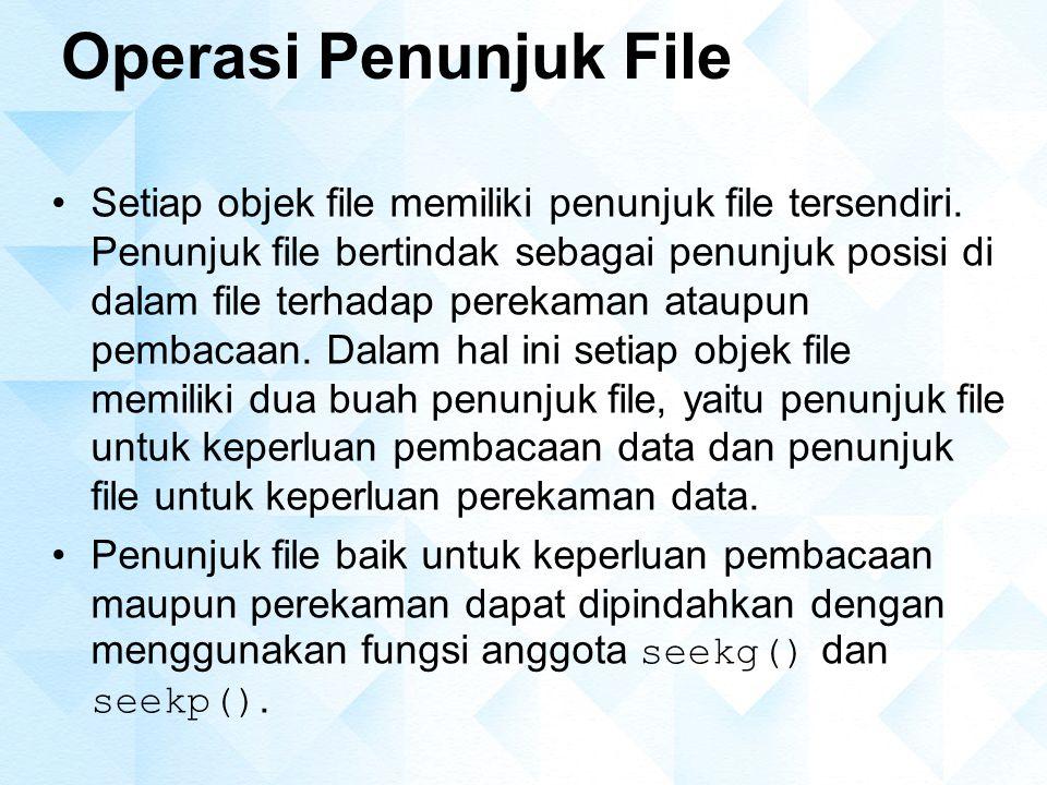 Operasi Penunjuk File