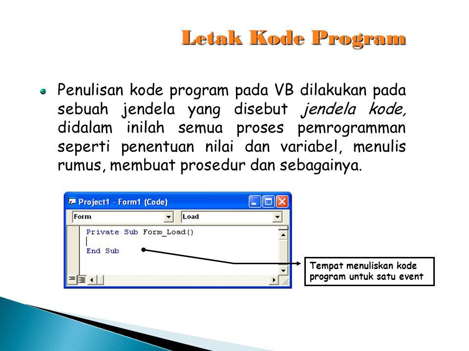 Letak Kode Program
