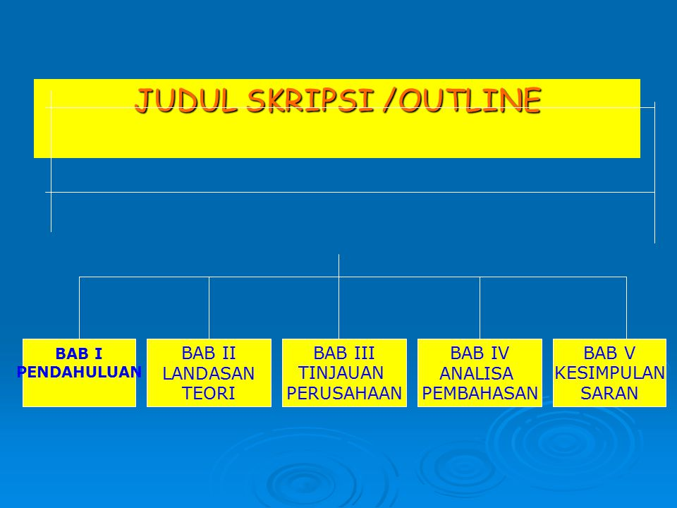 JUDUL SKRIPSI /OUTLINE