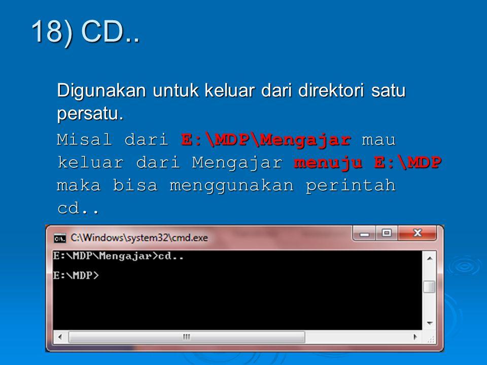18) CD..
