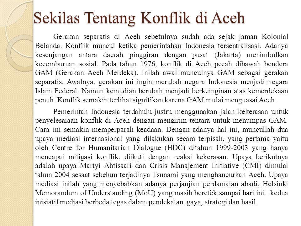 Sekilas Tentang Konflik di Aceh
