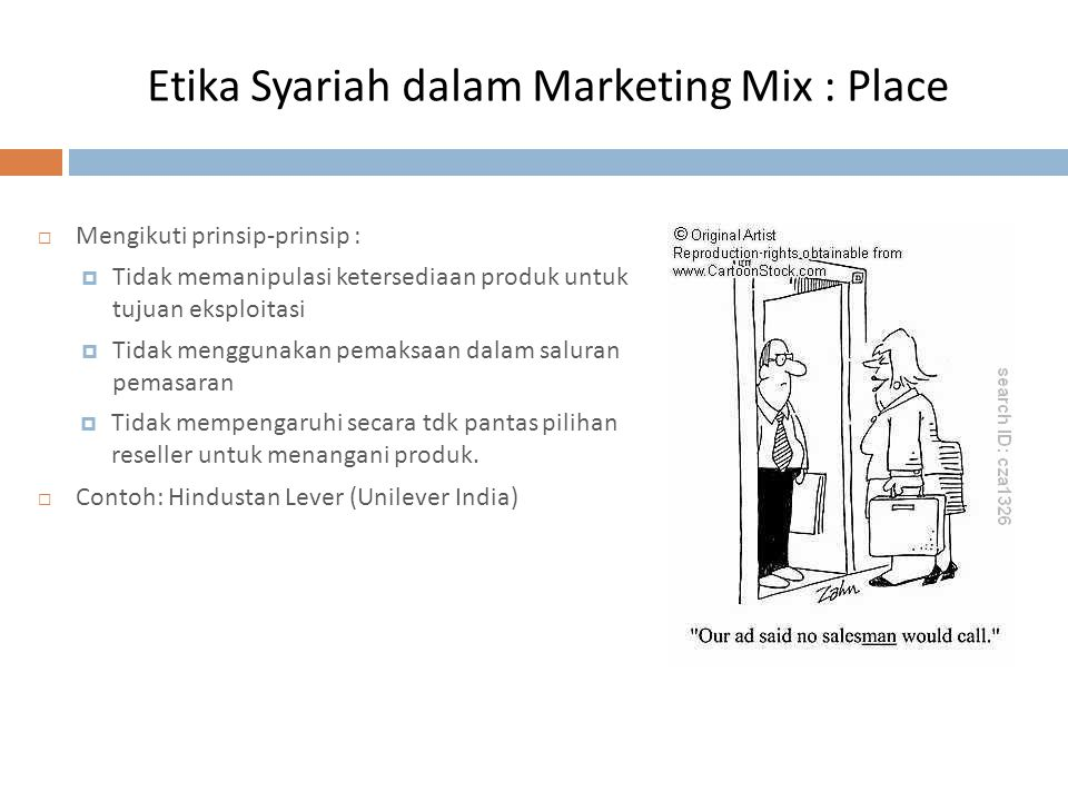 Etika Syariah dalam Marketing Mix : Place