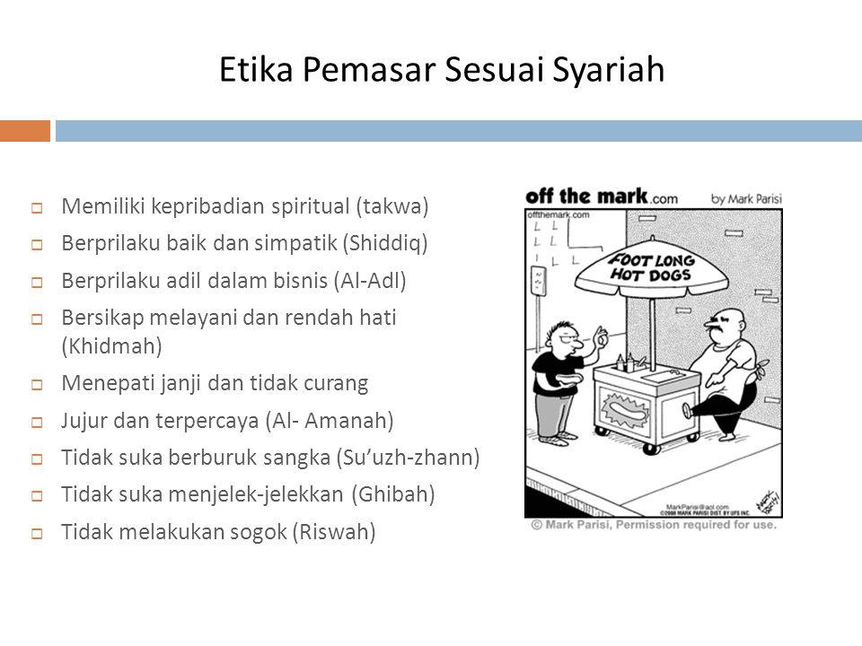 Etika Pemasar Sesuai Syariah
