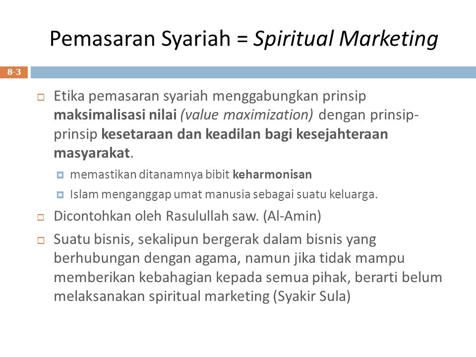 Pemasaran Syariah = Spiritual Marketing