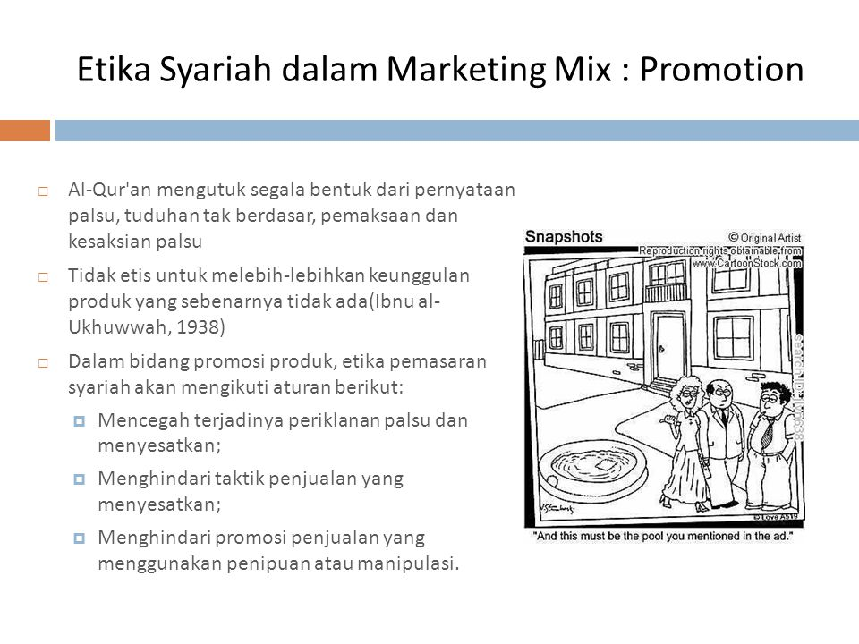 Etika Syariah dalam Marketing Mix : Promotion