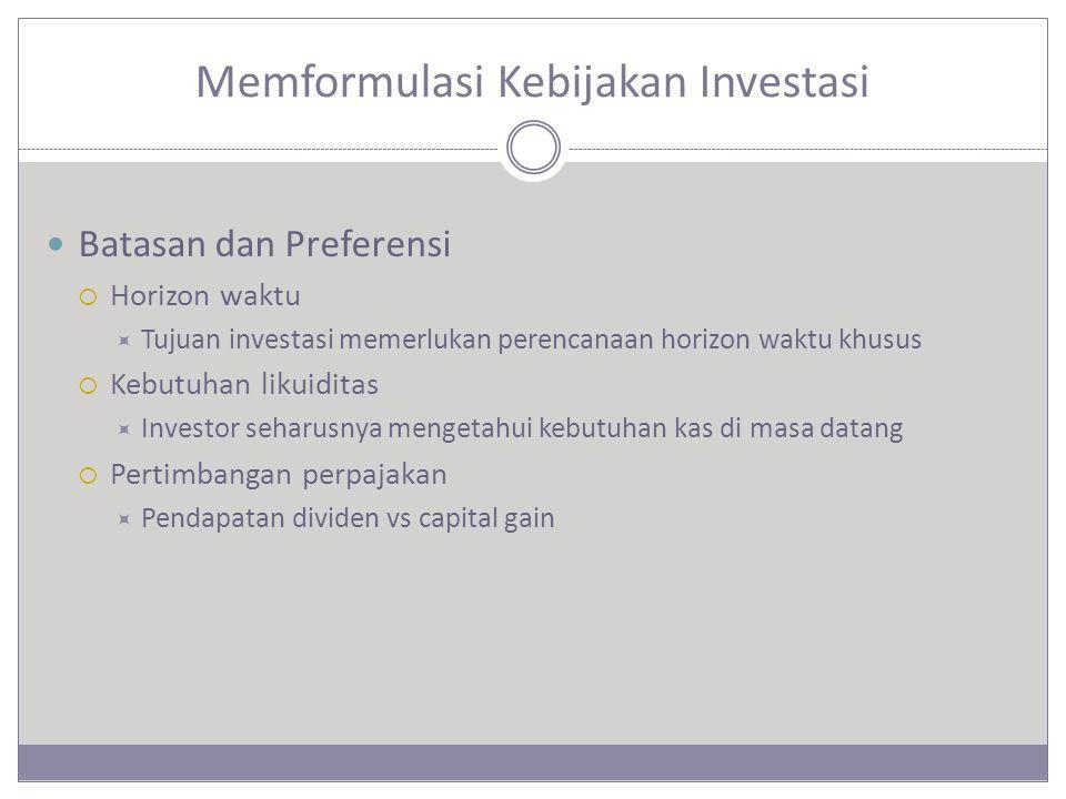 Memformulasi Kebijakan Investasi