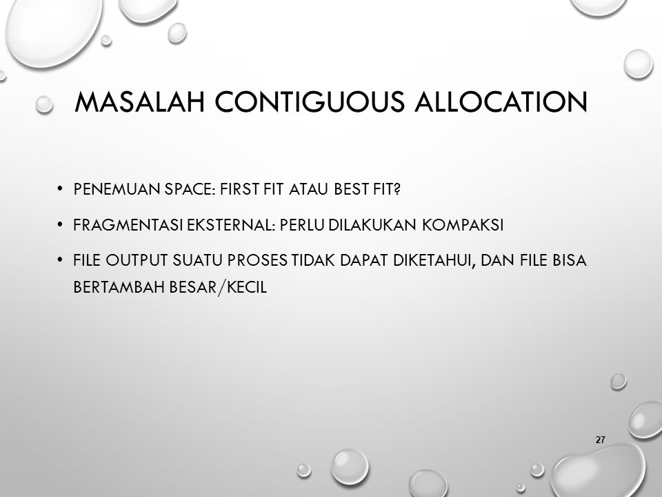 Masalah Contiguous Allocation
