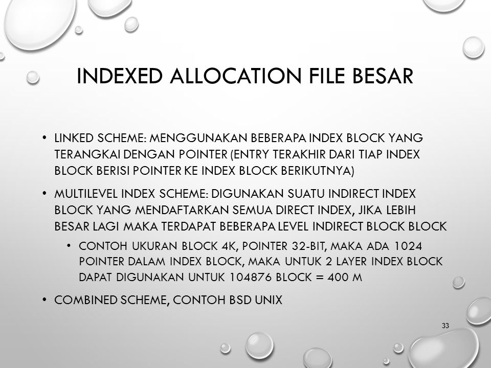 Indexed Allocation File Besar