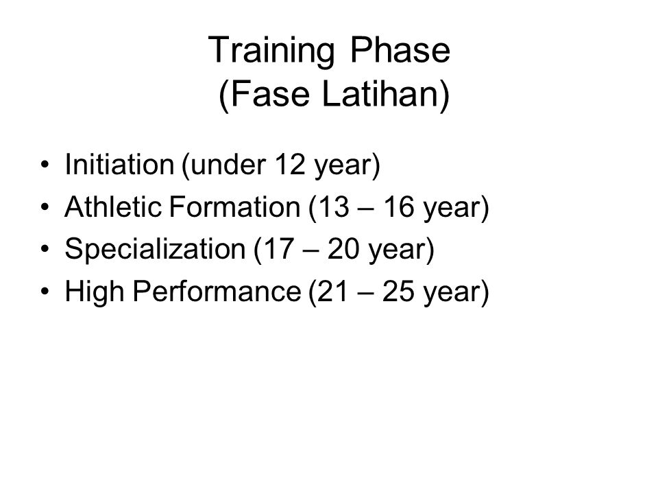 Training Phase (Fase Latihan)