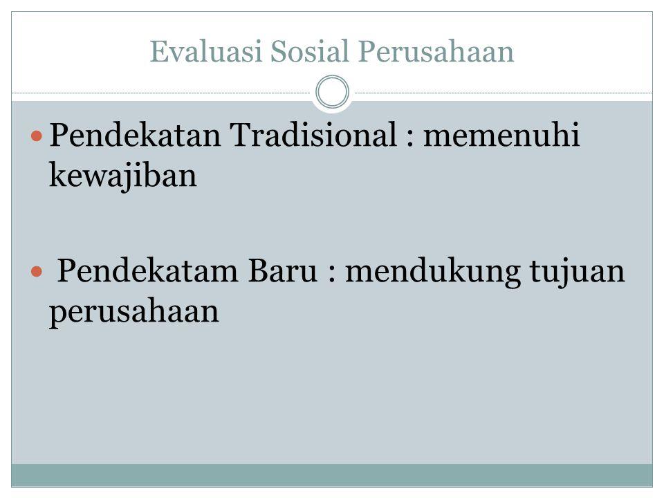 Evaluasi Sosial Perusahaan