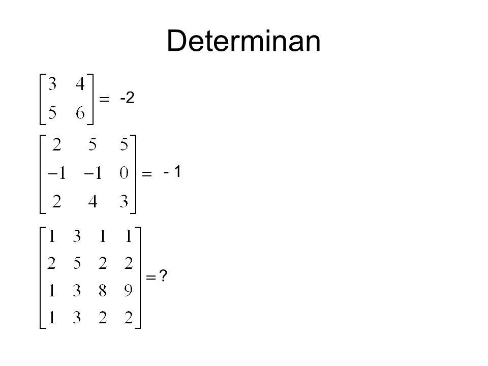 Determinan -2 - 1