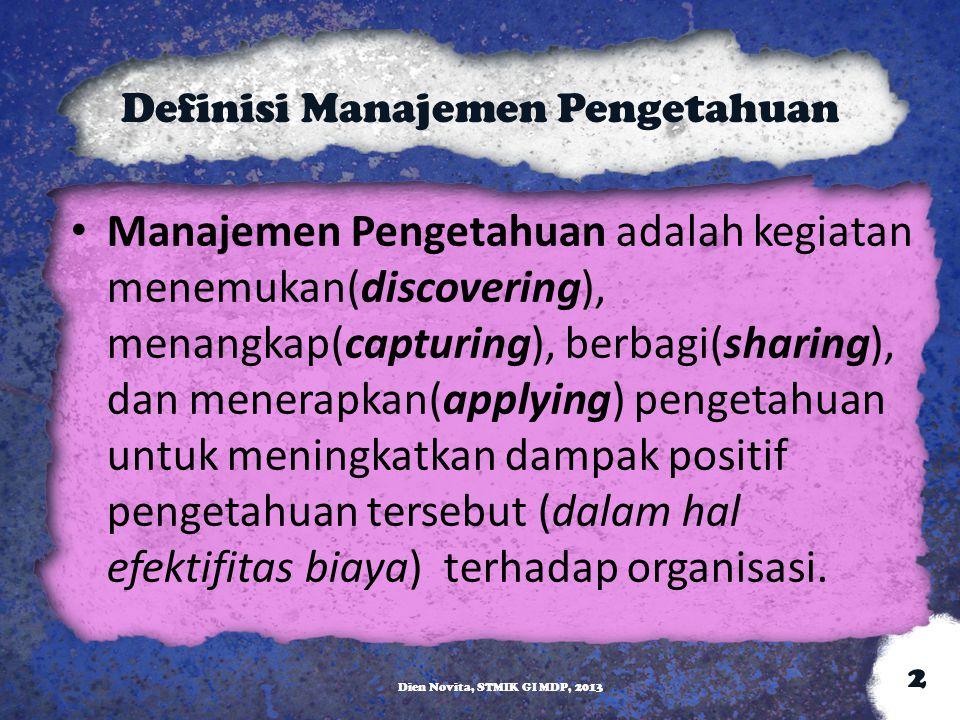 Definisi Manajemen Pengetahuan