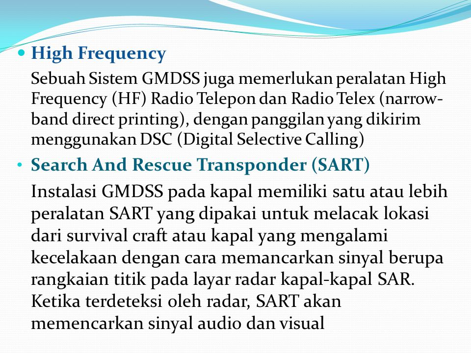 Search And Rescue Transponder (SART)