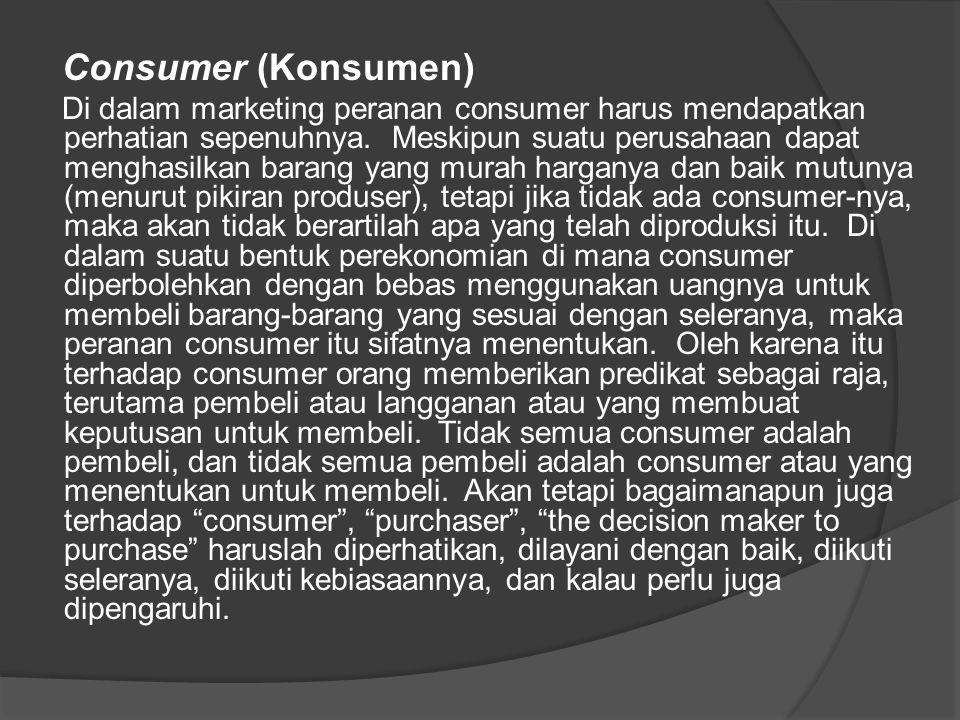 Consumer (Konsumen)