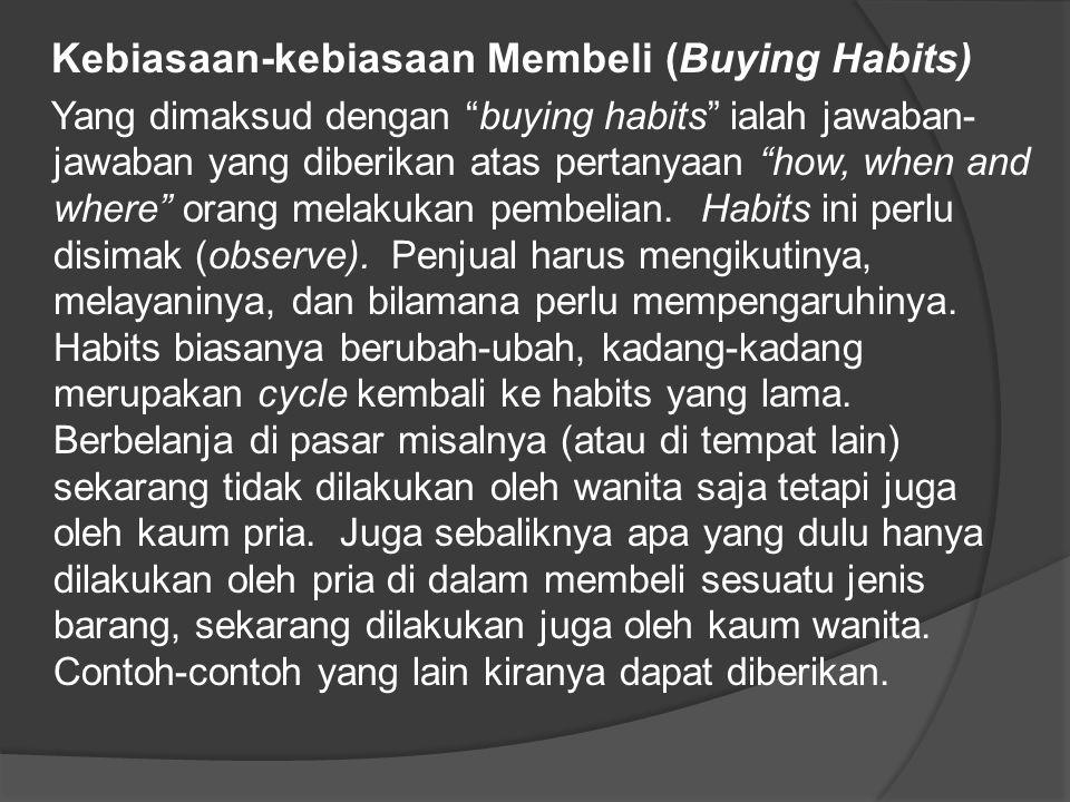 Kebiasaan-kebiasaan Membeli (Buying Habits)
