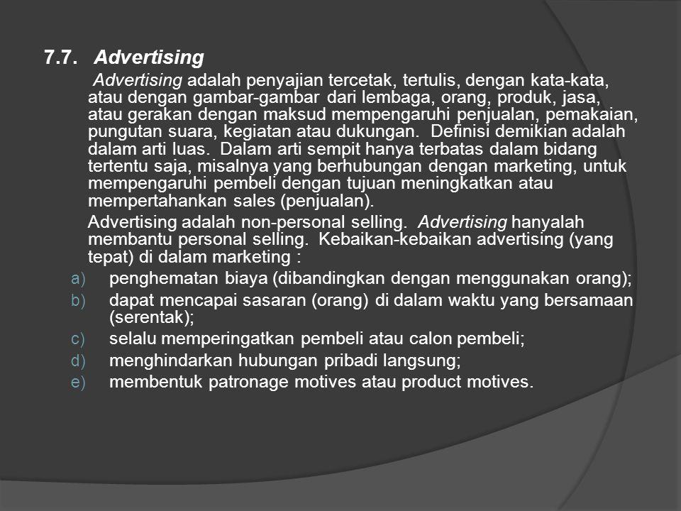 7.7. Advertising