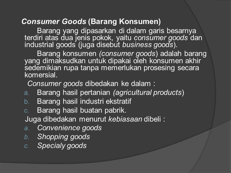 Consumer Goods (Barang Konsumen)