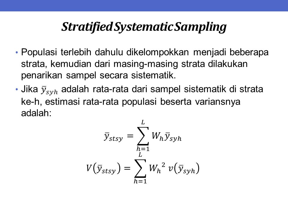 Stratified Systematic Sampling