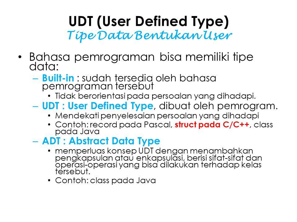 UDT (User Defined Type) Tipe Data Bentukan User