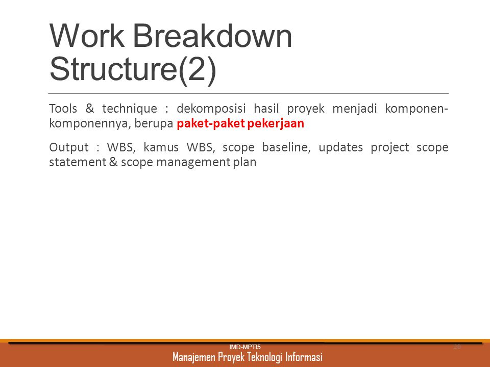 Work Breakdown Structure(2)