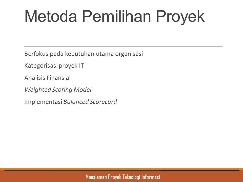 Metoda Pemilihan Proyek