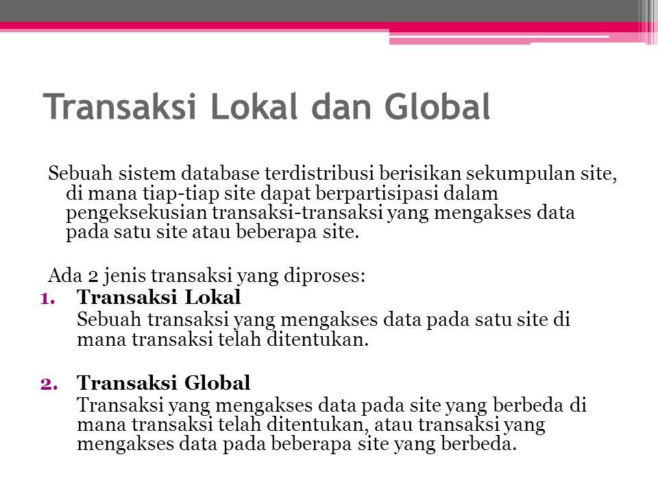 Transaksi Lokal dan Global