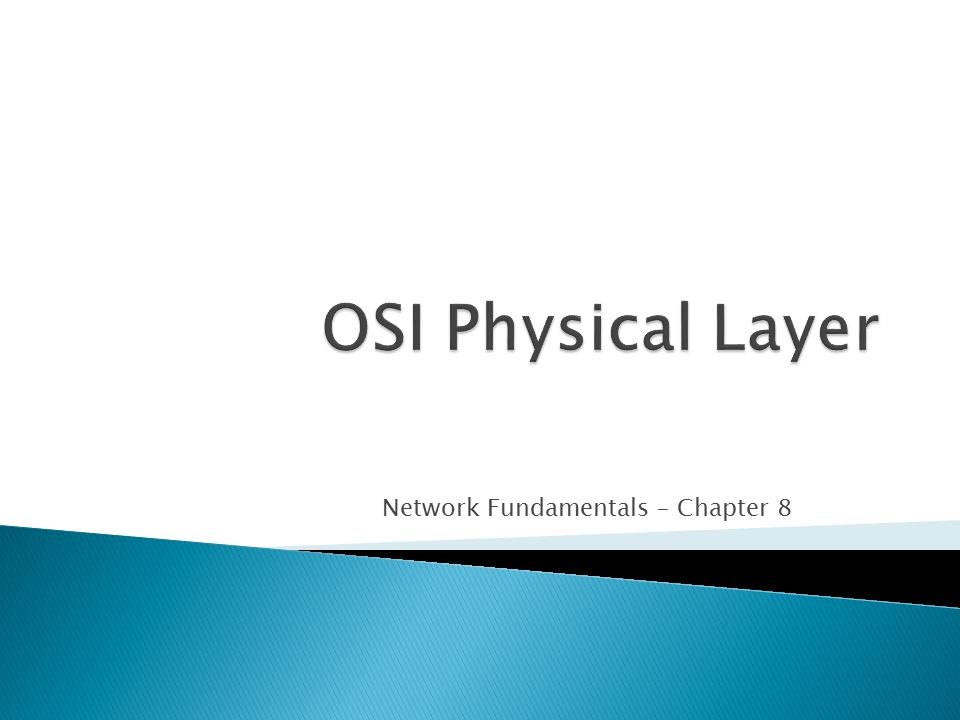 Network Fundamentals – Chapter 8