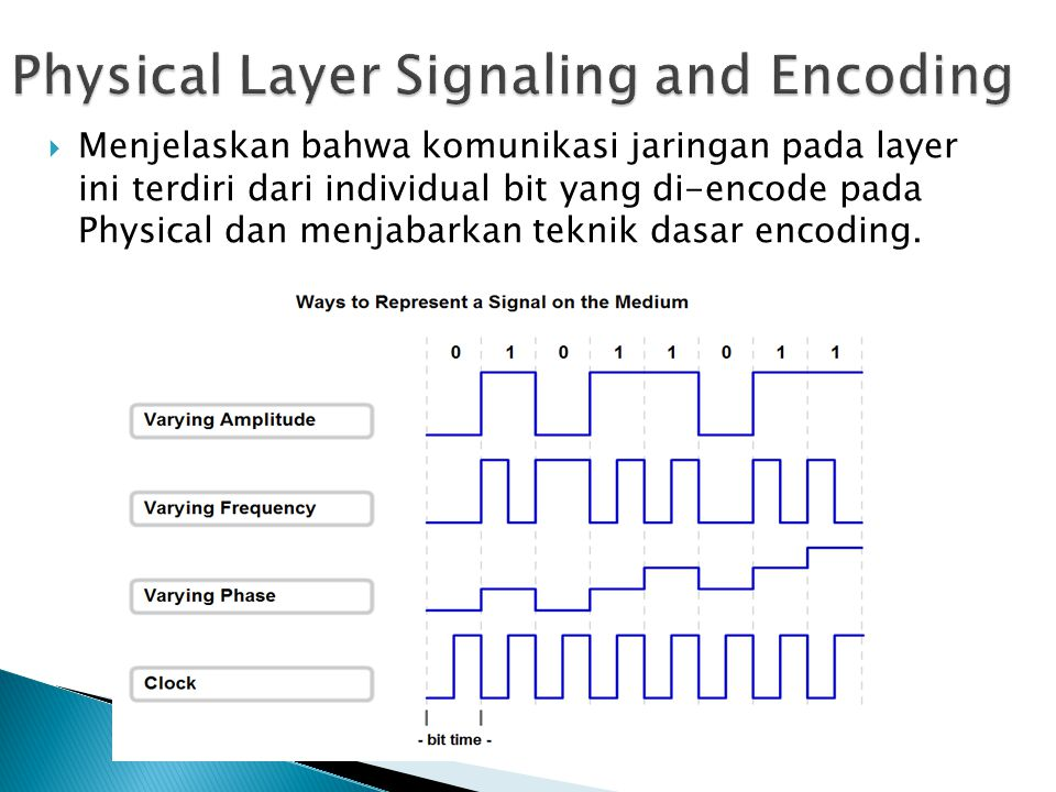 Physical Layer Signaling and Encoding