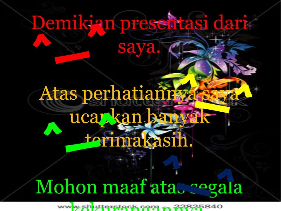 ^_^ ^_^ ^_^ ^_^ Demikian presentasi dari saya.