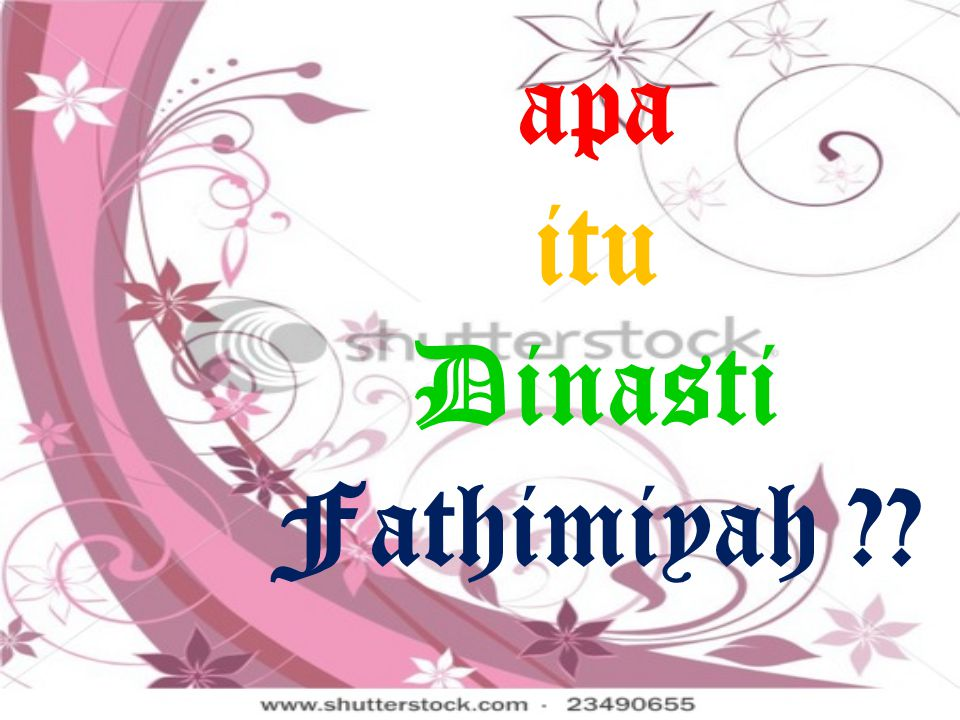 apa itu Dinasti Fathimiyah