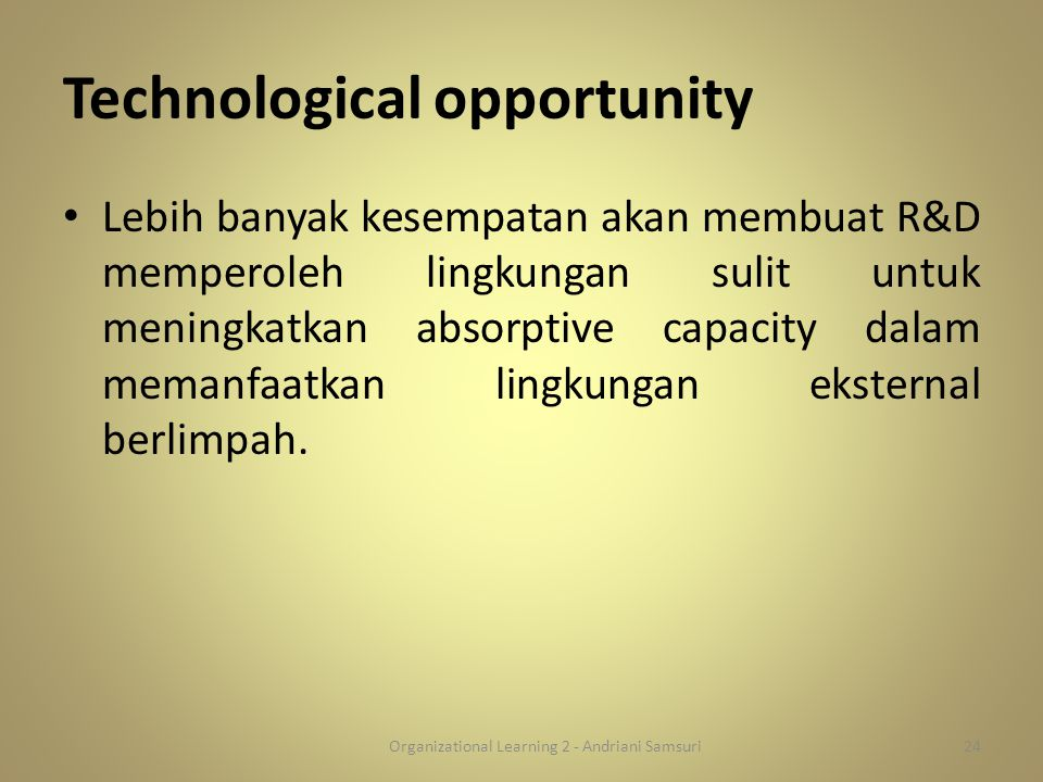 Technological opportunity