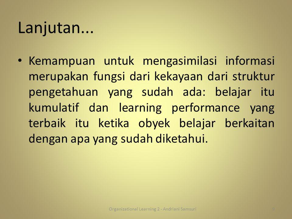 Organizational Learning 2 - Andriani Samsuri