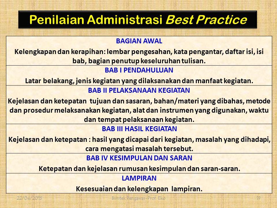 Penilaian Administrasi Best Practice