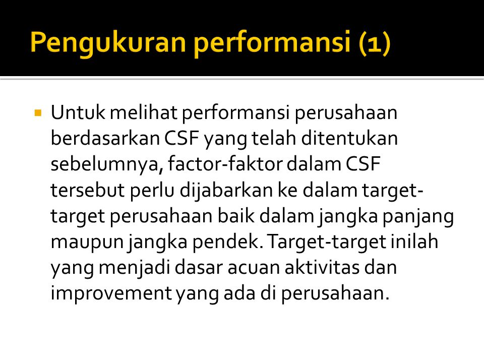 Pengukuran performansi (1)