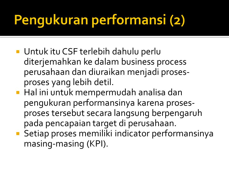 Pengukuran performansi (2)