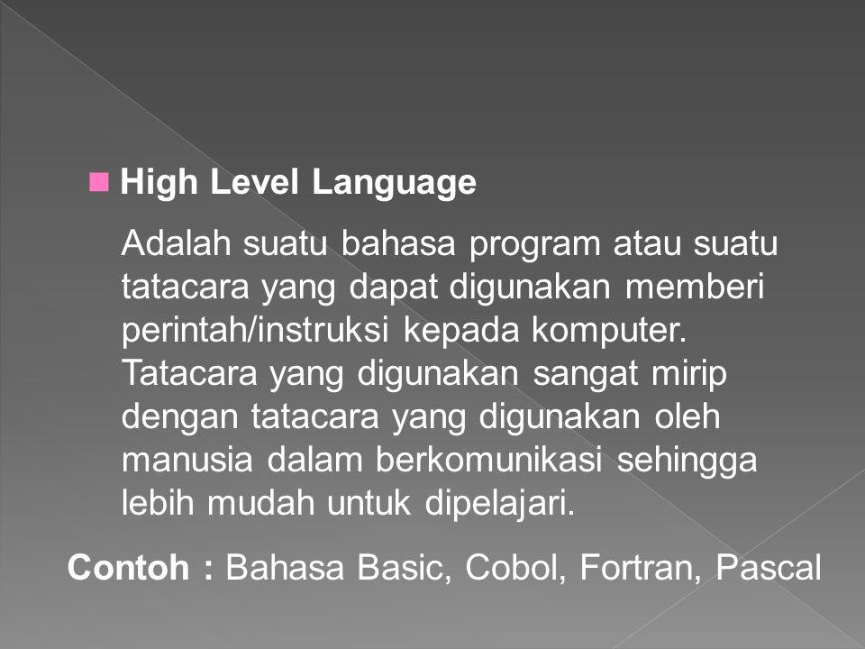 High Level Language