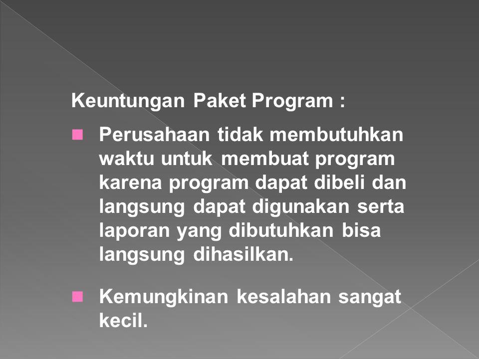 Keuntungan Paket Program :