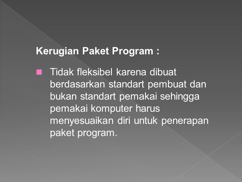 Kerugian Paket Program :